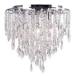 Home Collection - Lily Crystal Glass Flush Light