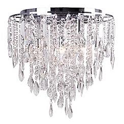 Debenhams - Lily Crystal Glass Flush Light