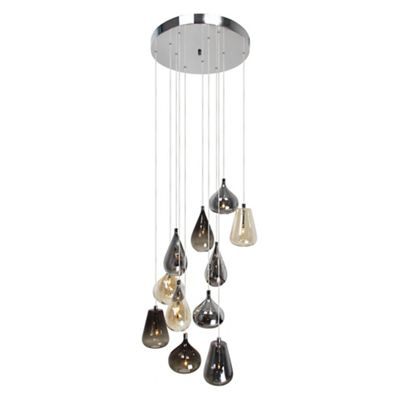 Home collection aria glass cluster light
