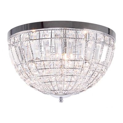Home collection isabella crystal glass flush light
