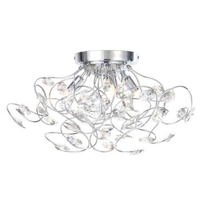 Ceiling lights debenhams home collection hannah crystal glass flush light aloadofball Choice Image