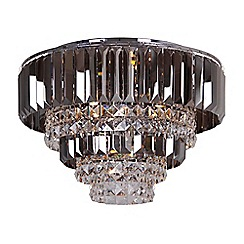Home Collection - Mila Smoked and Clear Crystal Glass Flush Light