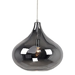 Home Collection - Claire Silver Glass Pendant Light