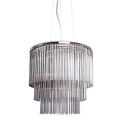 Home Collection - Penelope Smoked Glass Pendant Light