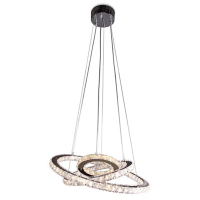 Home collection stella crystal glass led pendant light debenhams
