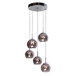 Home Collection - Alice Clear Crystal Glass and Smoke Glass Cluster Light