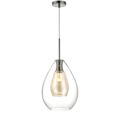 Home collection caroline clear and champagne glass pendant light home collection caroline clear and champagne glass pendant light debenhams aloadofball Gallery