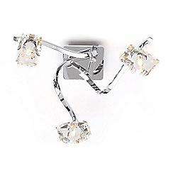 Debenhams - Bella Cut Glass and Silver Metal 3 Light Flush Light