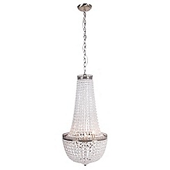 Home Collection - Eleanor Crystal Glass Antique Brass Chandelier Light