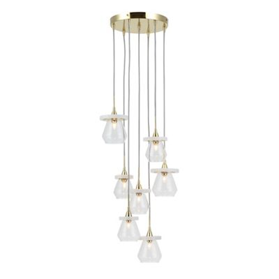 Home collection taylor gold metal and marble cluster light debenhams aloadofball Choice Image