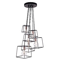 Home Collection - Harrison Black and Copper Metal Cluster Light