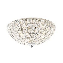 Home Collection - Ava Crystal Glass Flush Light