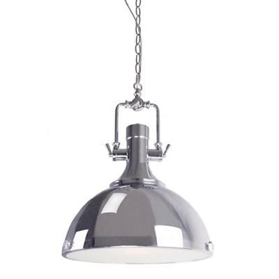 Home Collection Evan Silver Metal Industrial Pendant Light
