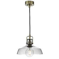 Home Collection - Brass 'Miles' pendant ceiling light
