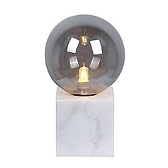Home Collection - Marble and Smoked Glass 'Ezra' Table Light