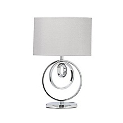 Debenhams - 'May' Silver Metal Ring Table Lamp