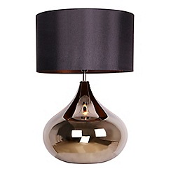 Home Collection - Black glass 'Claire' table lamp