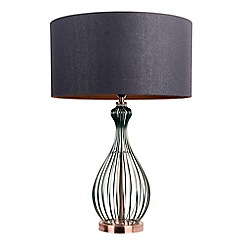 Home Collection - 'Hugo' Black Metal and Copper Table Lamp
