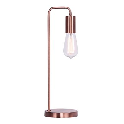 Home collection copper metal macy table light debenhams aloadofball Choice Image