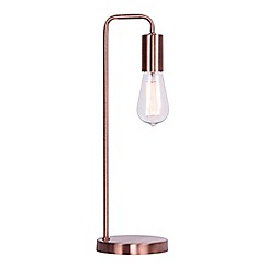 Debenhams - 'Macy' Copper Metal Table Lamp
