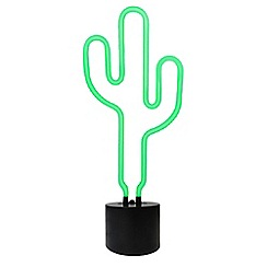 Home Collection - Green cactus neon table lamp