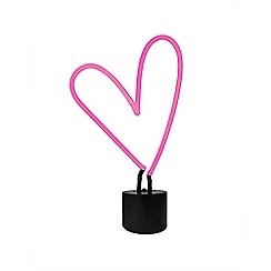 Home Collection - Pink heart neon table lamp