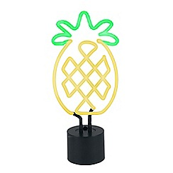 Home Collection - Green and yellow pineapple neon table lamp