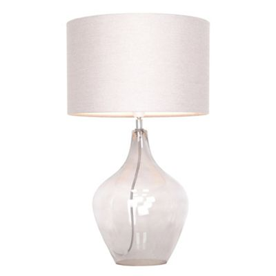 Home collection smoked glass highgate table lamp debenhams aloadofball Choice Image
