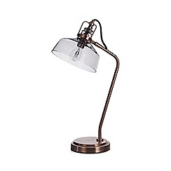 Home Collection - Antique copper 'Miles' table lamp