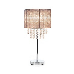 Debenhams - Pale Grey 'Gloria' Table Lamp