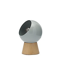 Debenhams - Grey 'Hadley' 40W Edison Screw ES Globe Table Light