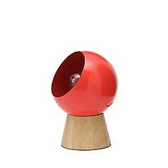 Debenhams - Red 'Hadley' 40W Edison Screw ES Globe Table Light