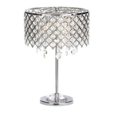 Crystal table lamps home debenhams home collection serenity silver metal and crystal glass table light aloadofball Choice Image