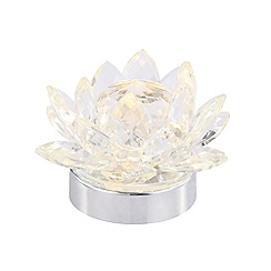 Debenhams - 'Jasmine' Glass Flower LED Table Lamp