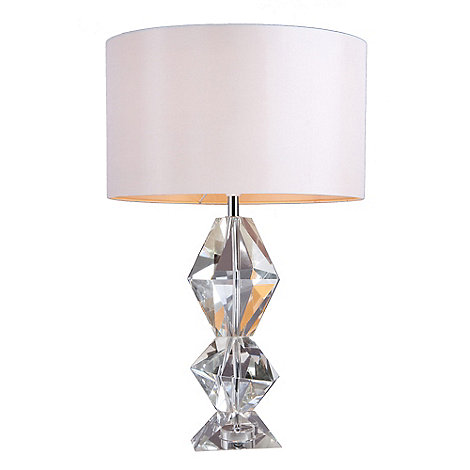 Home collection bailey crystal glass table light debenhams