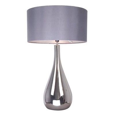 Table lamps sale debenhams home collection claire silver glass tall table light aloadofball Gallery
