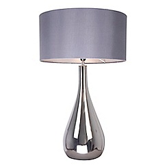 Debenhams - 'Tall 'Claire' Silver Glass Table Lamp