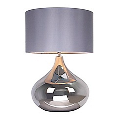 Debenhams - 'Claire' Silver Glass Table Lamp