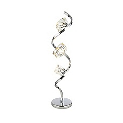 Debenhams - 'Bella' Cut Glass and Silver Metal Table Lamp