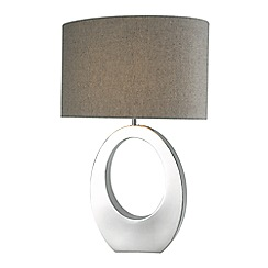 Home Collection - 'Annabelle' Silver Metal Table Lamp