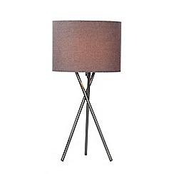Gunmetal table lamps home debenhams home collection rudy gunmetal metal table light aloadofball Choice Image