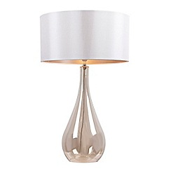Debenhams - 'Tall 'Claire' Champagne Glass Table Lamp