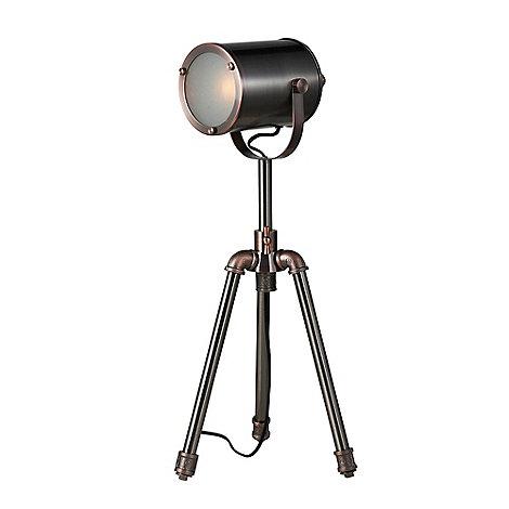 Home collection jake nickel and copper camera table light debenhams aloadofball Gallery