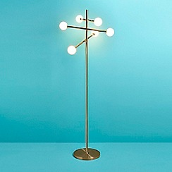 Home Collection - Satin brass 'Juno' floor lamp