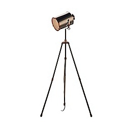 Home Collection - Jake Nickel and Copper Camera Floor Lamp