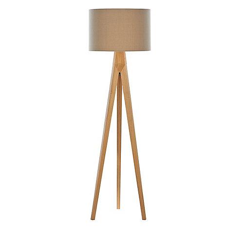 Home collection hudson wooden tripod floor lamp debenhams