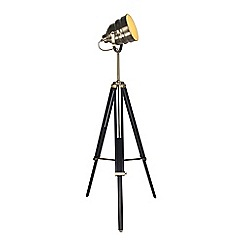 Home Collection - Evan Black and Champagne Metal Tripod Floor Lamp