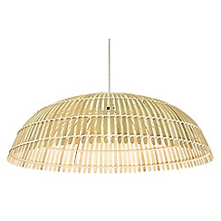 Home Collection - Large metal and bamboo 'Moana' easyfit light shade