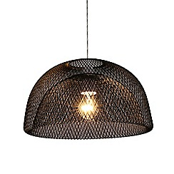 Debenhams - Black 'Logan' Easyfit Ceiling Light