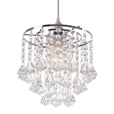 Easy fit ceiling lights debenhams home collection fiona crystal glass easyfit ceiling shade mozeypictures Gallery